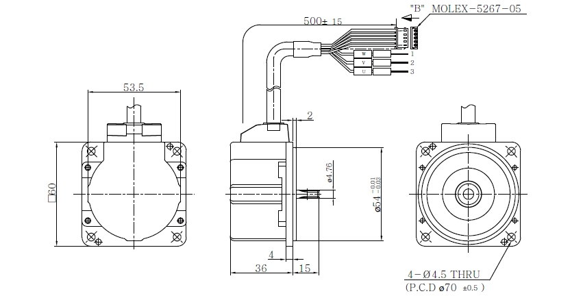 Hsg outer rotor type bldc motors 60 60w case type hsg for Bldc motor design calculations